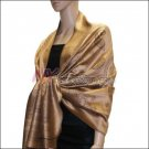 Paisley Pattern Scarf <br>Bronze
