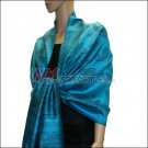 Paisley Pattern Scarf <br>Turquoise