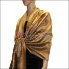 Paisley Pattern Scarf <br>Golden Brown