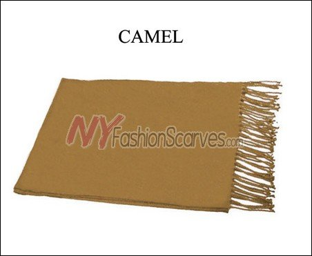 Solid Cashmere Feel Scarf Camel