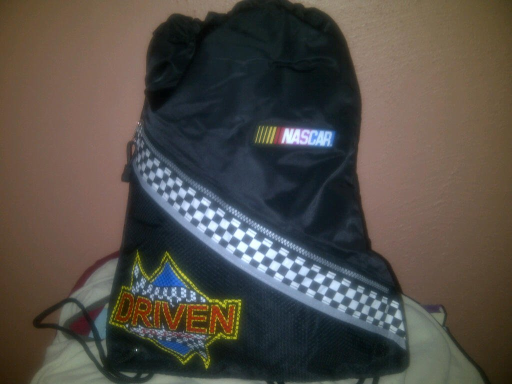 NASCAR Drawstring Bag FREE SHIPPING
