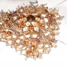 gold rhinestone brooch/pin