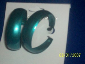 Fashion Earring-Hoop/Color/Teal