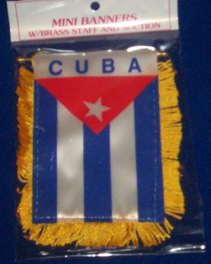 "Mini Banner- 4"" x 6""- CUBA Flag"