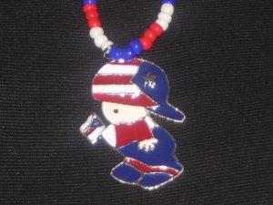 "Puerto Rico Boy w/ Flag Beaded 20 """