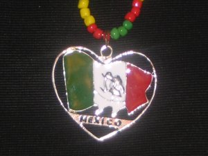 "MEXICO Boy w/ Flag Beaded 20 """