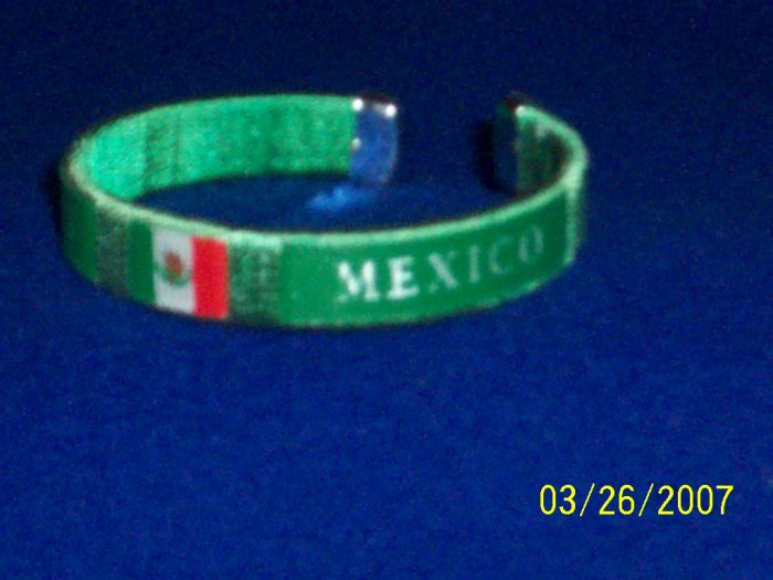 MEXICO Flag Bangle - Green