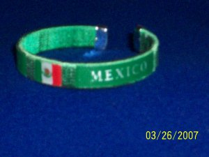 MEXICO Flag Bangle - Green