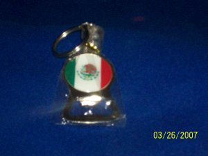 Mexico Flag - Key Chain - Can Opener