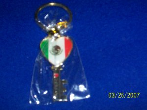 MEXICO Flag - Key Chain - Key
