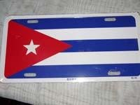 Car License Plate - Cuba Flag