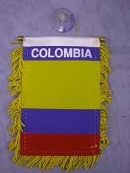 "Mini Banner- 4"" x 6""- Colombia Flag"