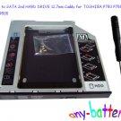 SATA to SATA 2nd HARD DRIVE 12.7mm Caddy for TOSHIBA P750 P755 P770 P505