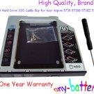 2nd SATA Hard Drive SSD Caddy Bay for Acer Aspire 5738 5738G 5738Z 5738ZG