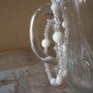Handmade Double Strand White & Clear beaded Braclet