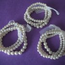 Flexible Pearl Glass Beaded bracelets