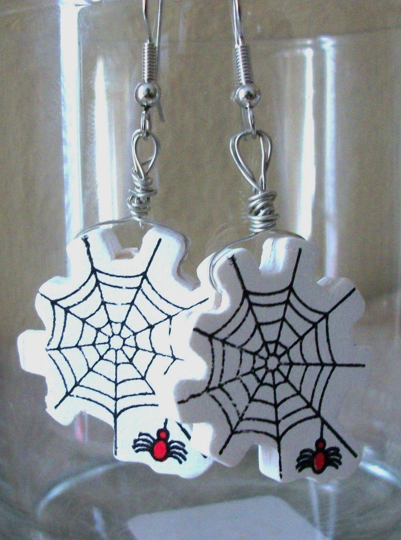 Spiderweb Halloween Earrings