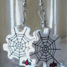 Spiderweb Halloween Earrings