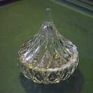 Glass Lidded Teardrop Vanity Trinket Box Ring Holder #00037