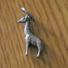 Silver Detailed Giraffe Charm for Bracelet  #00004