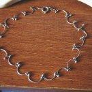 "Silver Scallops Silver Balls Bracelet 9"" Inch  #00084"