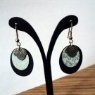 Gold Tone Black Gold and Pewter Dangle Earrings  #00133