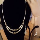 Sterling Silver Necklace, Bracelet and Earrings Silver Roses #00190