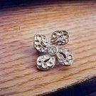 Vintage Cute Small Scatter Pin Brooch Flower Shape Clear Rhinestone  #00220