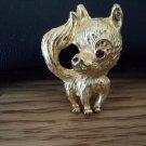 Gold Tone Small Chihuahua Pomeranian Dog Brooch #00170