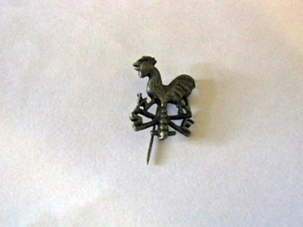 Small and Delicate Rooster Weathervane Brooch Pewter or Silver #00035