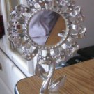 Silver Tone Torino Sunflower Earring Holder Center Mirror #00072