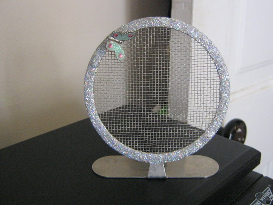 Claire's Round Bling Metal Mesh Earring Ear Stud Jewelry Display Holder Rack #00068