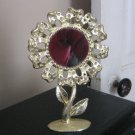 Gold Tone Torino Sunflower Earring Holder Center Mirror #00040