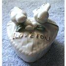 White Porcelain Love Birds Trinket Box #00113