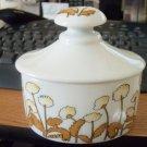 White Porcelain Oval Shaped Floral Vanity Jar Trinket Box or Vanity Jar  #00104