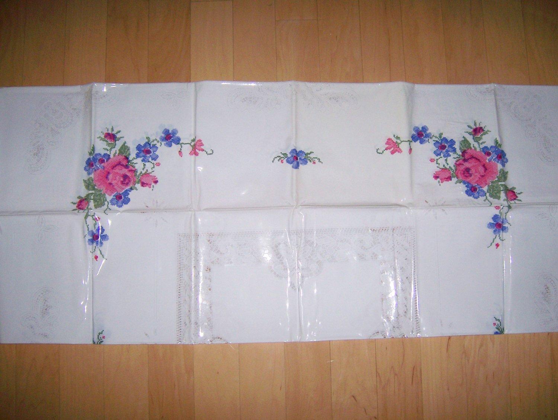 Winter White Vinyl Table Cloth