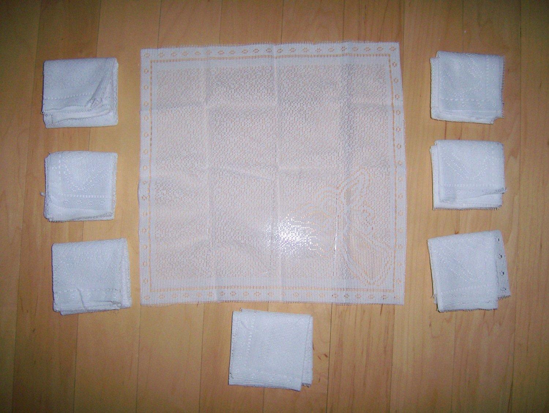 Set Of Eight White Napkins
