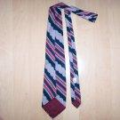 Men's Tie Navy/Red/Silver