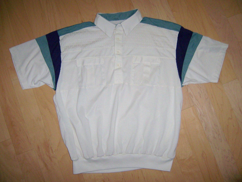 Men's Creame/Navy & Green Polo Shirt