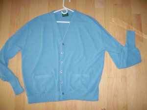 Men's Sweater LightBlue XL By Haband