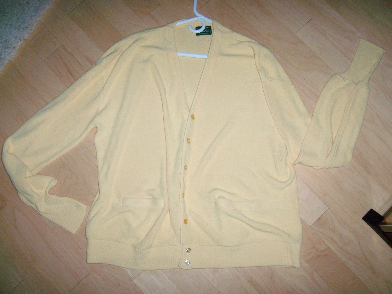 Men's Sweater Yellow By Haband XL
