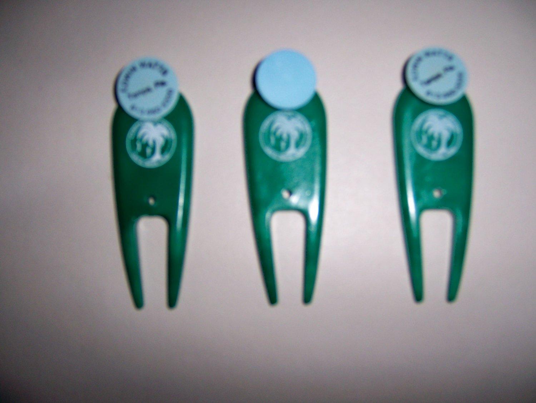 Set Of Three Divet Repairs W Ball Markers