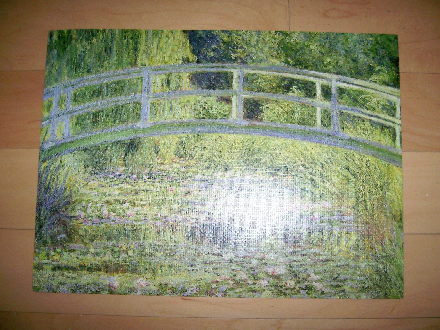 "Reproduced Painting ""The Water Lily Pond"" By Claude Monet"