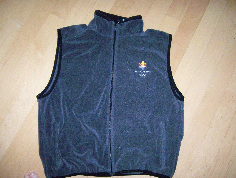 Vest Grey Polyester/Fleecs w Olympic Logo