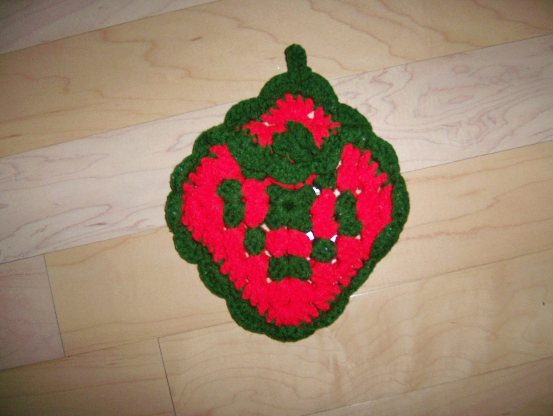 Pot Holder  w Pocket Knitted BNK194