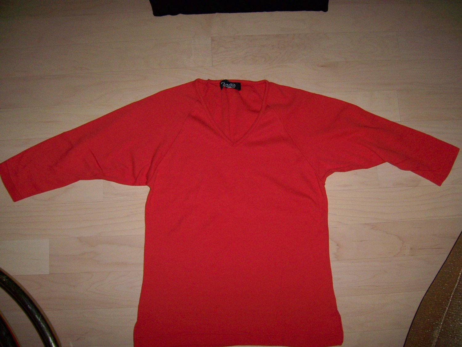 Sweater Red 3/4  Sleeves Size 34 BNK214