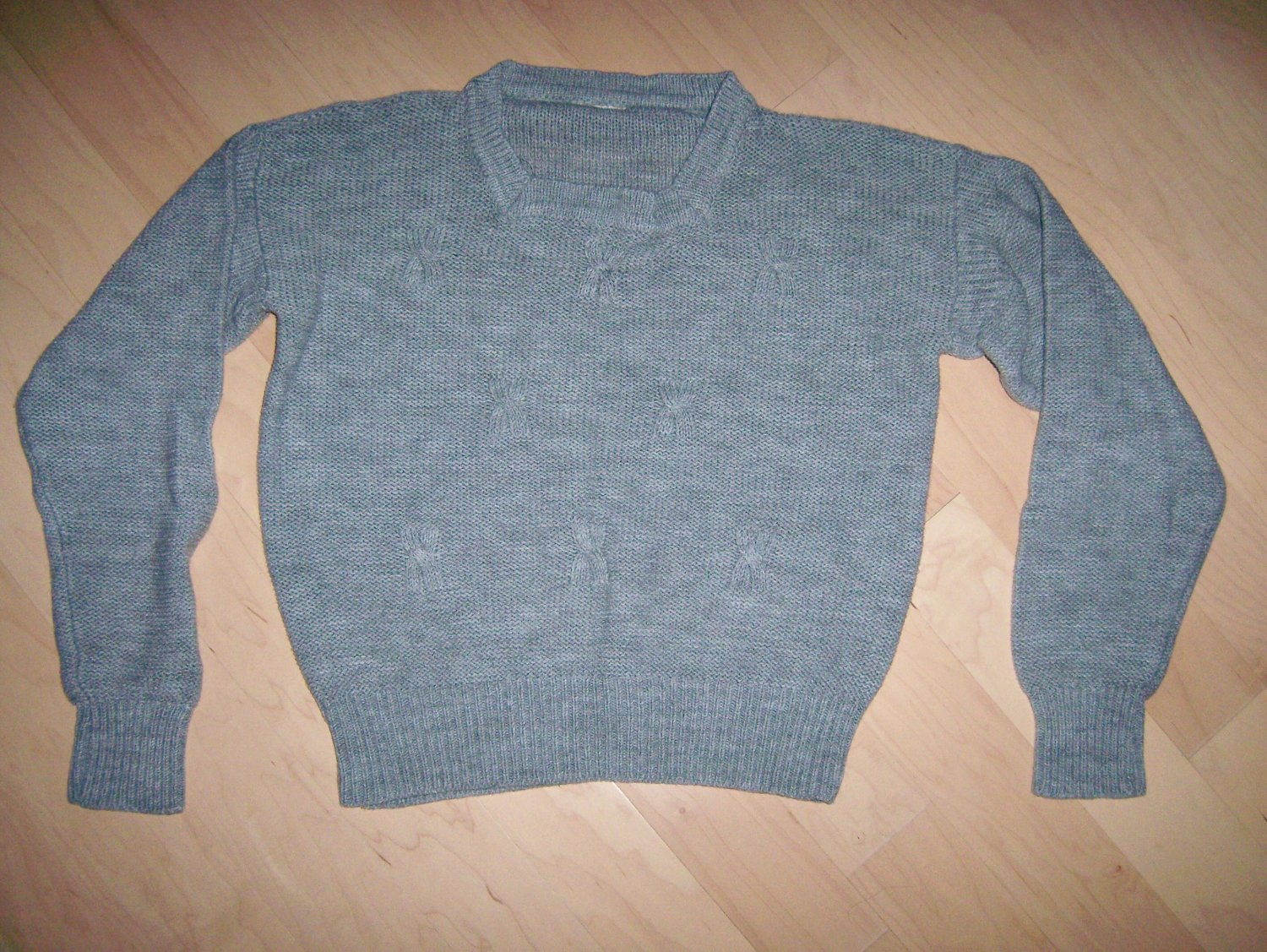 Sweater Long Sleeves Size 334 Gray BNK215