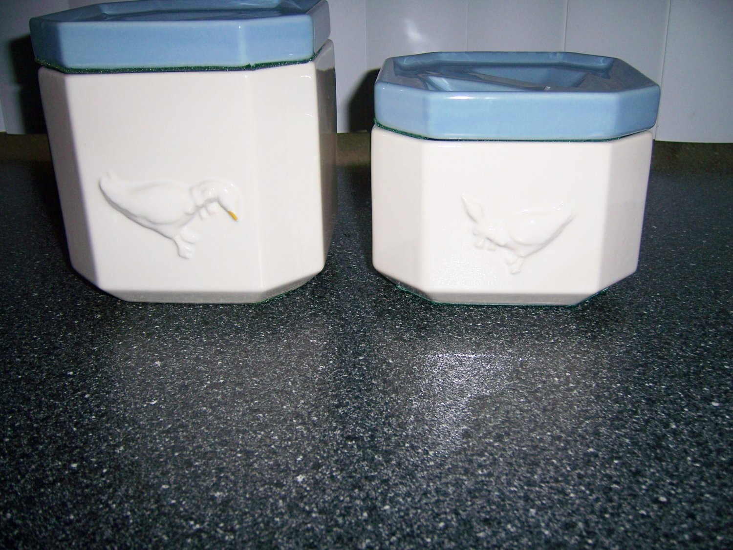 Canister Set White w Duck Design BNK291