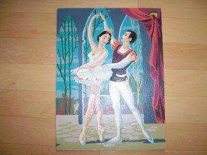 Ballerinna Couple Dancing Picture BNK447
