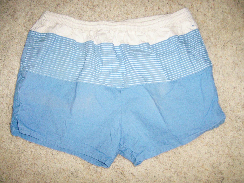 Men's Swim Trunks XL Blue/White  BNK589
